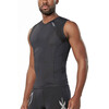 2XU Compression Sleeveless Top Men Black/Black